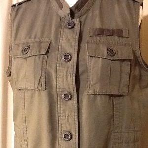 Eddie Bauer Army green vest.